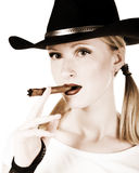 Sepia cigar Stock Photo