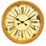 Sepia clock Royalty Free Stock Image