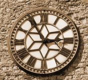 Sepia clock face. Sepia face of a clock Stock Photography