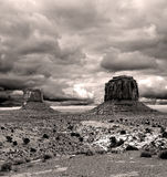 Sepia Cloudy Skies Monument Valley Stock Image