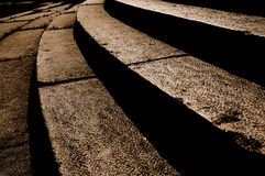 Sepia cobblestone Royalty Free Stock Images