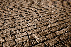 Sepia cobblestone Stock Photography