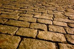 Sepia cobblestone Royalty Free Stock Image