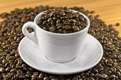 Sepia coffee Royalty Free Stock Images