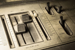 Sepia color filtered of radio sound equipment. Royalty Free Stock Image