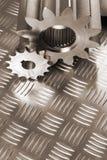 Sepia colored mechanical idea Stock Photos