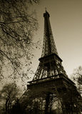 Sepia Colored Photo Of Eiffel Tower. Stock Photos