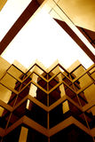 Sepia coloured building. A duotoned abstract of a modern building Royalty Free Stock Photography