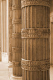 Sepia Columns Royalty Free Stock Photos