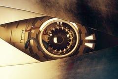 Sepia cyber eye Stock Photos