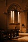 Sepia da oração Fotos de Stock Royalty Free