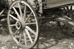 Sepia da roda de vagão Fotografia de Stock Royalty Free
