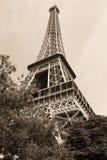SEPIA da torre Eiffel Fotografia de Stock