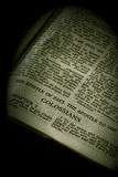 Sepia de Colossians de la serie de la biblia foto de archivo