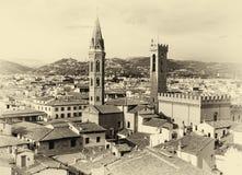Sepia de Florence Cityscape fotografia de stock royalty free