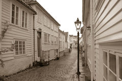 Sepia de Gamle Stavanger Imagem de Stock Royalty Free