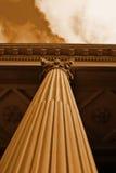 Sepia de la columna del Corinthian Foto de archivo libre de regalías