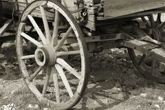 Sepia de la rueda de carro Fotografía de archivo libre de regalías