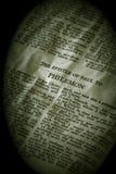 Sepia de Philemon de la serie de la biblia imagenes de archivo