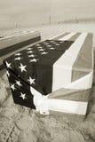 Sepia del oeste del ataúd de Arlington Fotografía de archivo