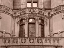 Sepia diez de la serie de la casa de Burrage Imagenes de archivo