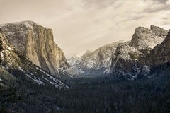 Sepia do vale de Yosemite Fotos de Stock Royalty Free