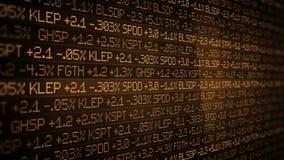 Sepia Effectenbeursticker het scrollen in glad milieu - het concept van Wall Street royalty-vrije illustratie