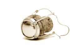 sepia för champagnefärgkork Fotografering för Bildbyråer
