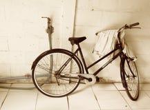 Sepia fiets Royalty-vrije Stock Foto's