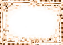 Sepia film background. Collage of film strips, may use as a background Royalty Free Stock Photography