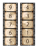 Sepia film strip countdown. Part of my film collection Royalty Free Stock Images