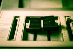 Sepia filtered of radio sound equipment. Royalty Free Stock Photography