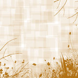 Sepia Floral Background. Sepia floral image with diamond plate pattern for backgrounds or wallpaper Stock Image
