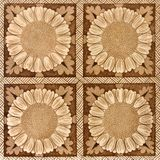 Sepia Floral Tile Stock Images