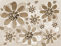 Sepia Flower Art Illustration Royalty Free Stock Image