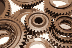 Sepia gears Royalty Free Stock Images