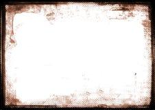 Sepia gebrande rand fotografische grens Stock Fotografie