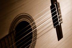 Sepia gitaar royalty-vrije stock foto