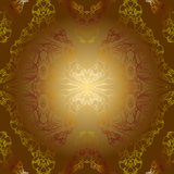 Sepia golden vintage background pattern Stock Photo