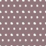 Vintage polka grunge dots seamless pattern Stock Photography