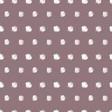 Vintage polka grunge dots seamless pattern Stock Photography