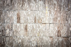 Sepia grunge wood shingle wall pattern Royalty Free Stock Photography