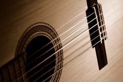 Sepia guitar Royalty Free Stock Photo