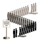 Sepia Hospital Waiting List Stock Photography