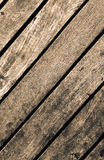 Sepia image of old rustic wooden texture. Stock Photos