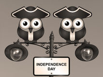 Sepia Independence Day Stock Images