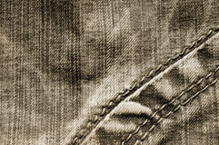 Sepia jeans background Stock Photography