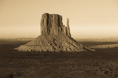 Sepia landscape in Monument Valley. Stock Image