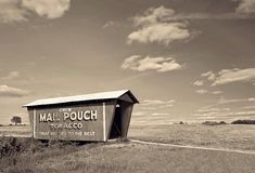 Sepia Mail Pouch Covered Bridge Royalty Free Stock Photos