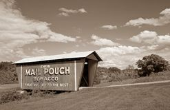 Sepia Mail Pouch Covered Bridge Royalty Free Stock Photography